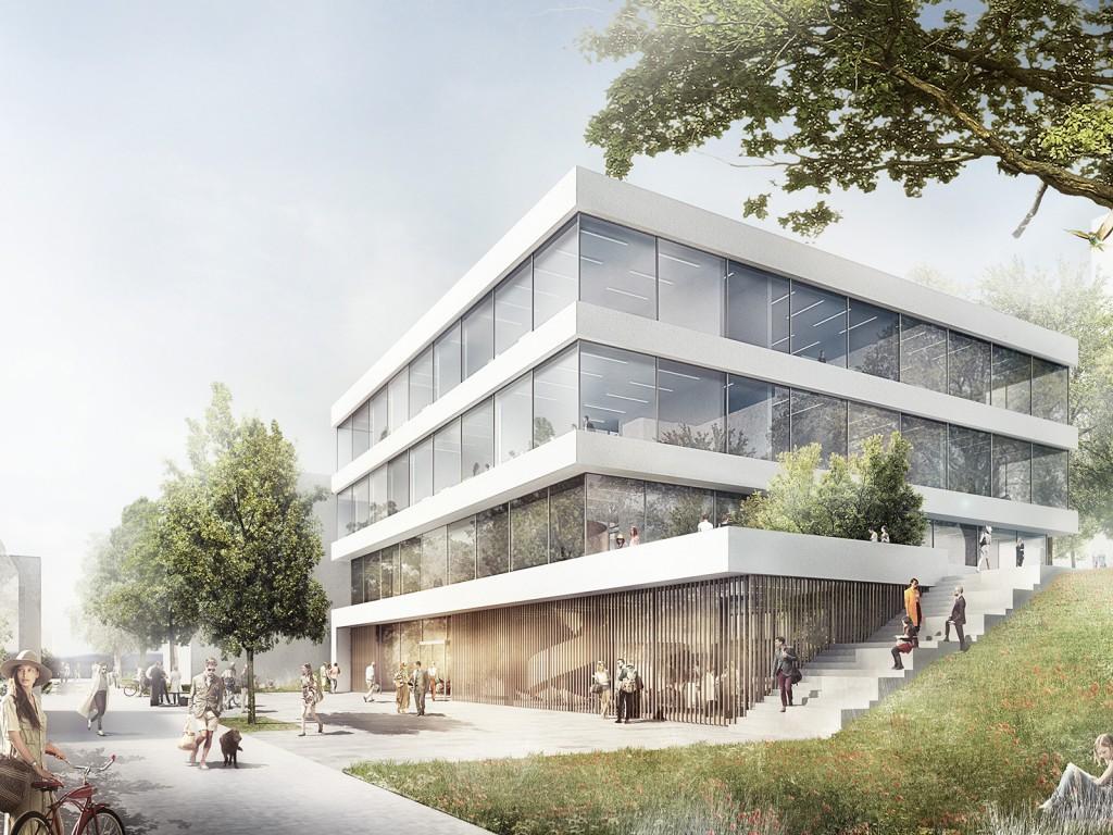 Entwurf: Nickl & Partner Architekten AG - Perspektive Neuordnung der Tierwissenschaften in Stuttgart-Hohenheim Standort 1
