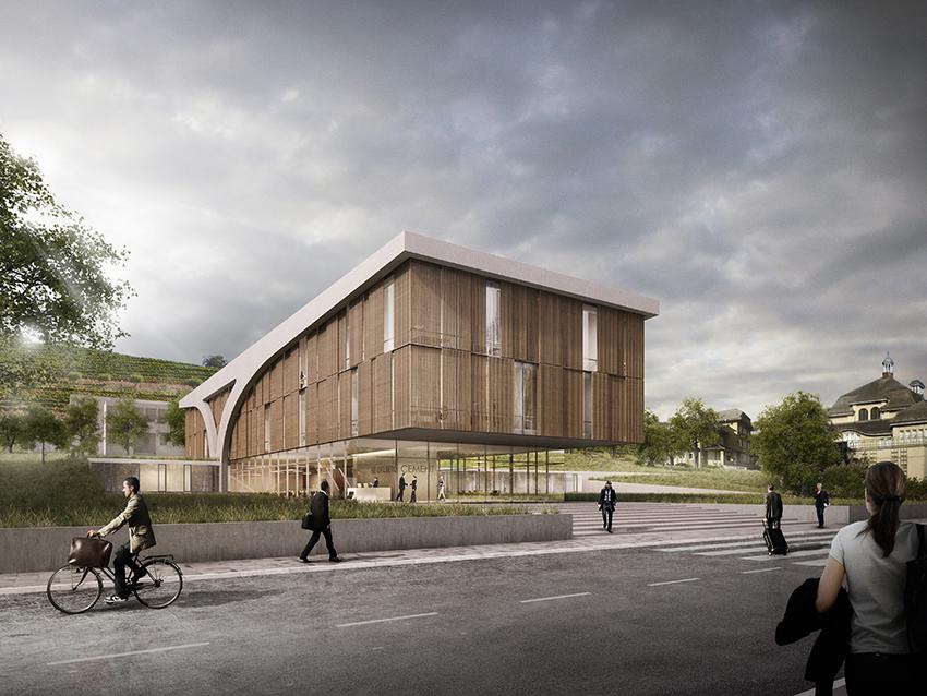 Nickl & Partner Architekten AG - Perspektive - NHL Neubau Labor- und Verwaltungsgebäude HTC in Leimen