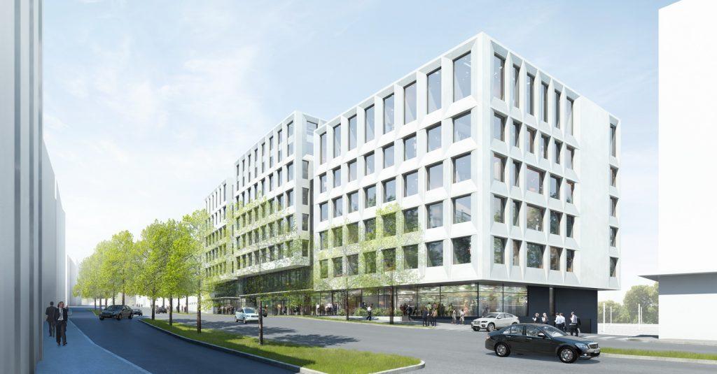 Entwurf: Nickl & Partner AG - Perspektive - Forschungsgebäude Rechtsmedizin und Klinischen Forschung Universität Bern