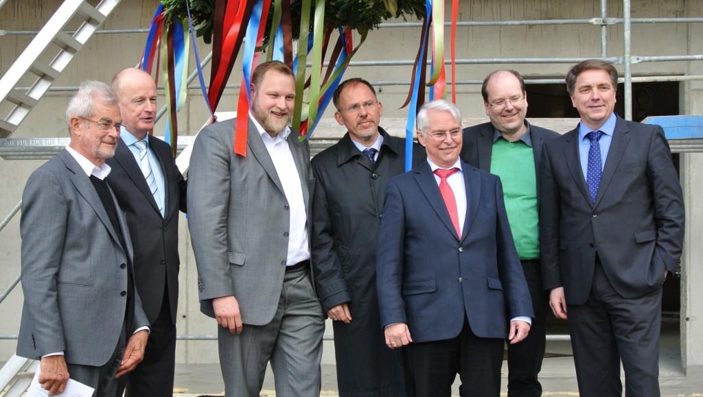 Von links nach rechts: Herr Prof. Nickl, Herr Wieting, Herr Prange, Herr Prof. Dr. Haunhorst, Herr Schneider, Herr Meyer, Herr Krogmann
