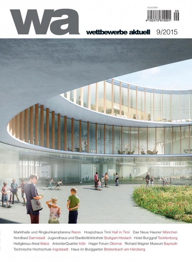 Nickl & Partner Architekten AG - Cover der wettbewerbe aktuell  9/2015