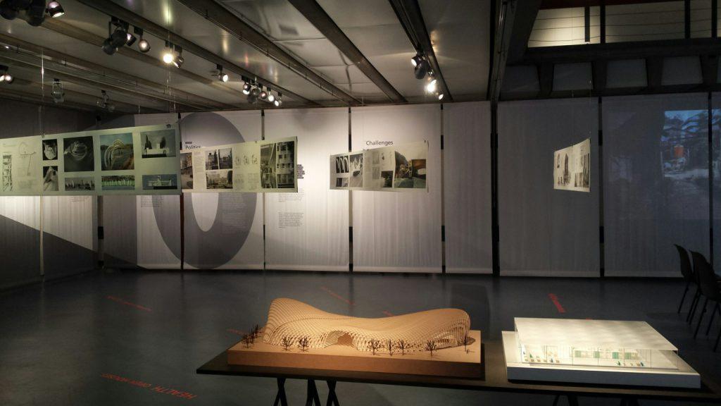Die Ausstellung zeigt Einblicke in Lehre und Forschung des Fachgebiets Architecture for Health von Frau Prof. Nickl-Weller
