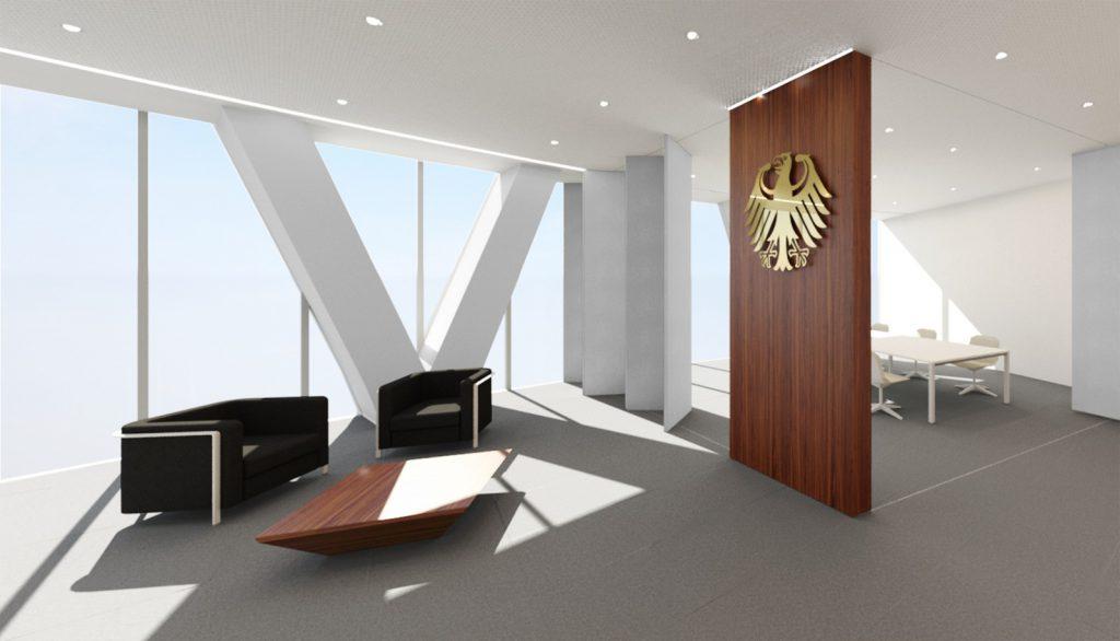 Entwurf Foyer Deutsche Botschaft, Doha