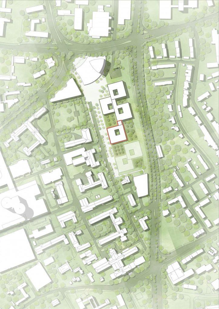 Entwurf: Nickl & Partner Architekten AG, stand Lageplan Juni 2018