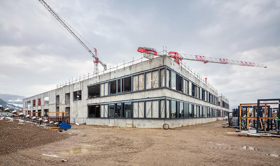 Baustellenfoto Krankenhaus Voiron, Nickl & Partner Architekten AG