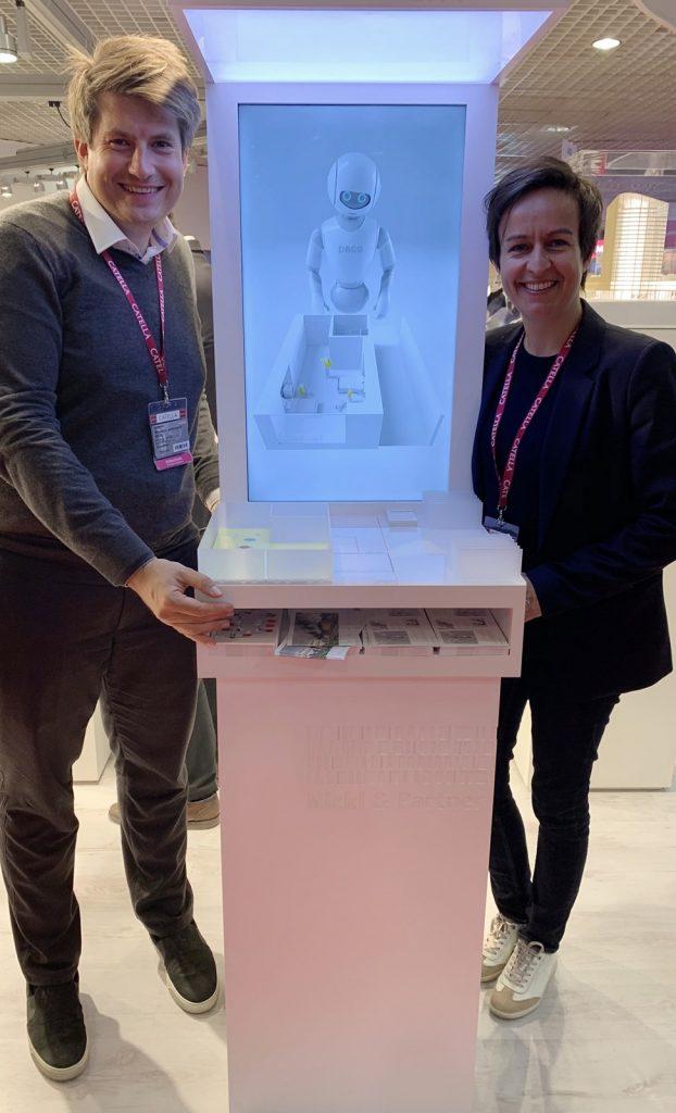 Magnus Nickl und Astrid Beem am Stand des GERMAN PAVILION auf der MIPIM 2019
