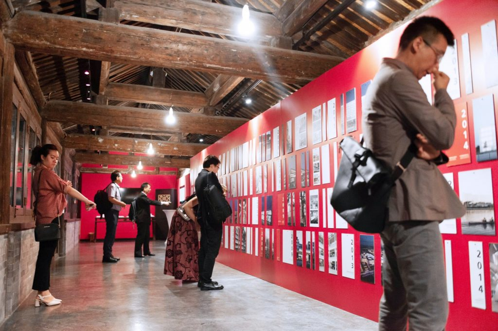 Ausstellung zum Jubiläumsevent in Peking