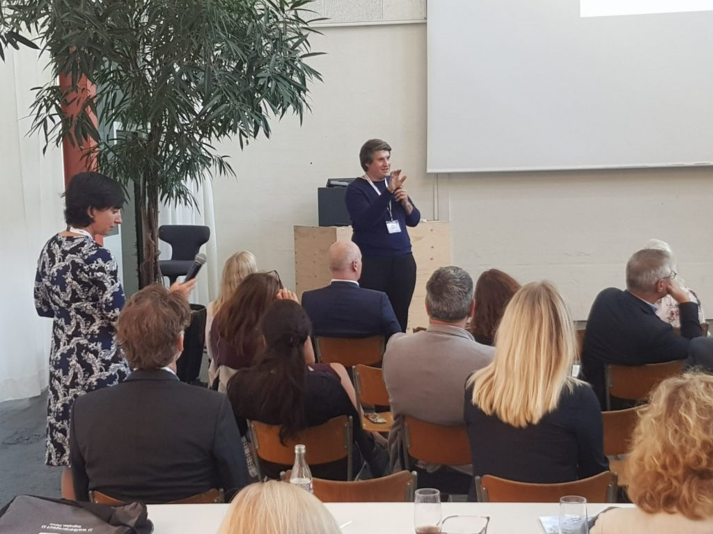 Magnus Nickl während des Vortrages beim European Health Property Network (EuHPN) in Basel