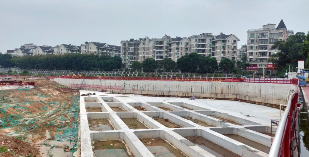 Construction site of the Shenzhen 2nd Children's Hospital in October 2019