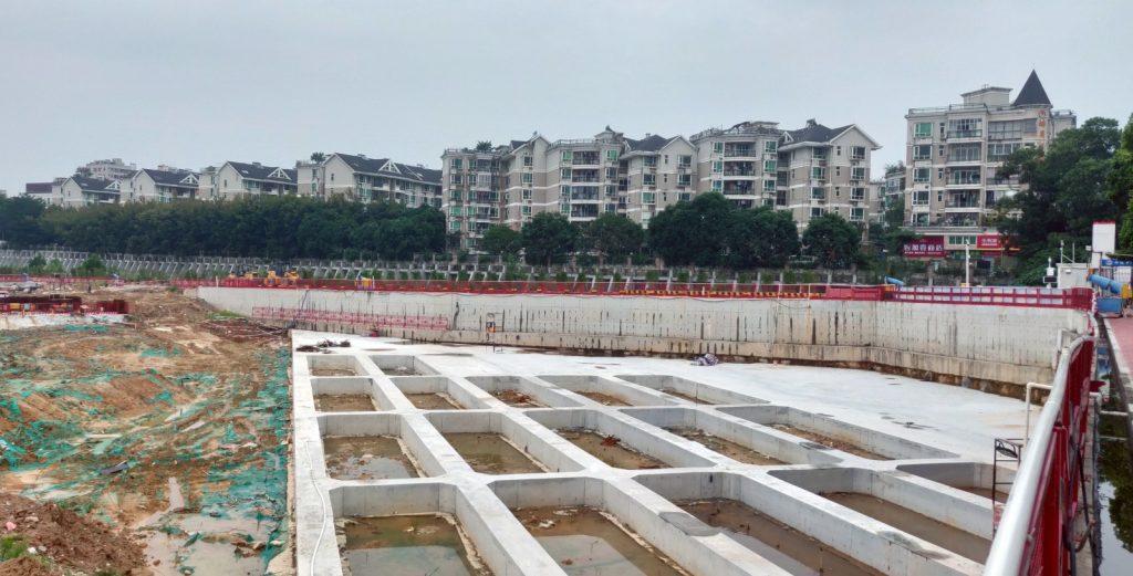 Baustelle Shenzhen 2nd Children's Hospital im Oktober 2019
