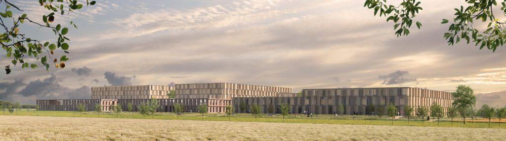 Visualisierung aus Uthwerdum, Wettbewerb Georgsheil, Nickl & Partner Architekten