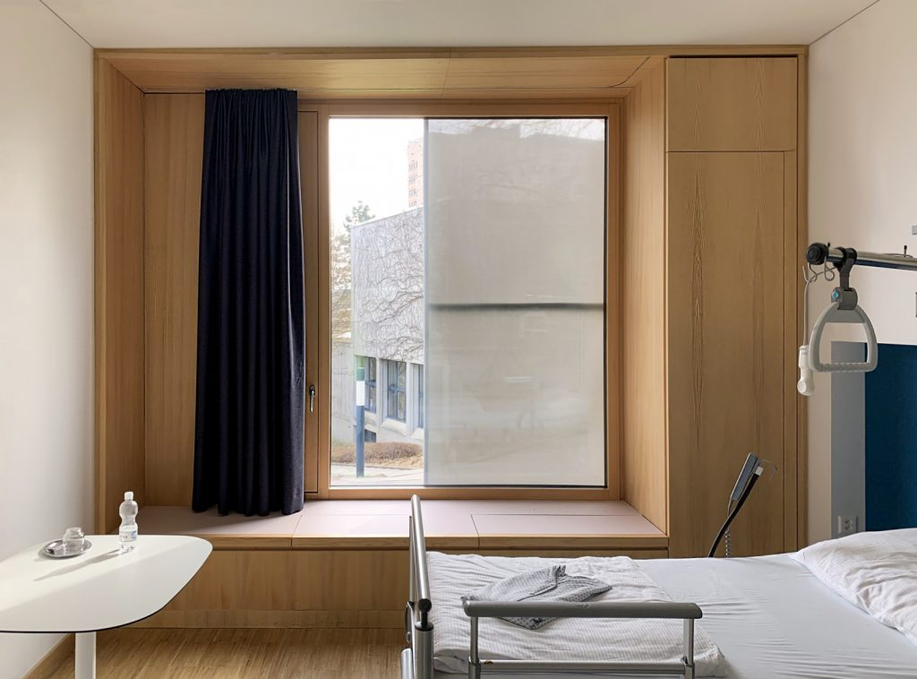Mock-up des KSB Innenraums mit Bettenzimmer.