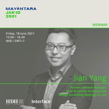 Jian Yang, Partner und General Manager Nickl & Partner Beijing, bei der Mayantara JAK.ID 2021.