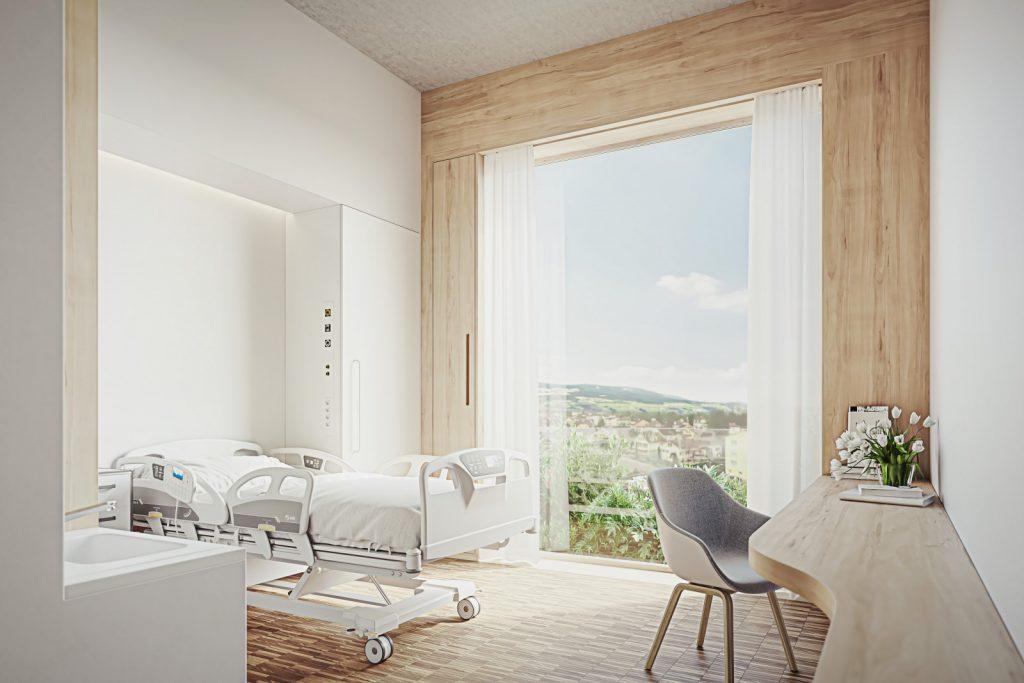 Visualisierung eines Bettenzimmers